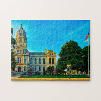 Courthouse Kosciusko Indiana. Jigsaw Puzzle