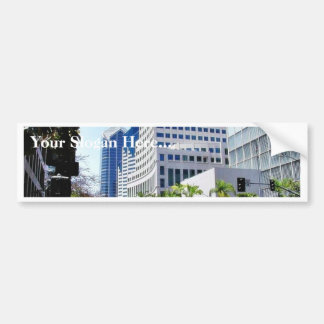 Courthouse Street City Buildings Bumper Sticker