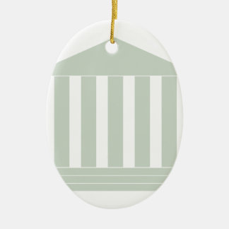 Courthouse Symbol Ceramic Ornament