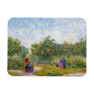 Courting Couples in the Voyer d'Argenson Park Gogh Rectangular Photo Magnet