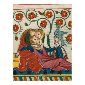 Courtly Love Postcard