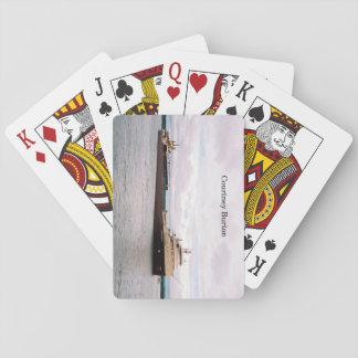 Courtney Burton playing cards