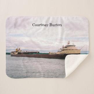 Courtney Burton sherpa blanket