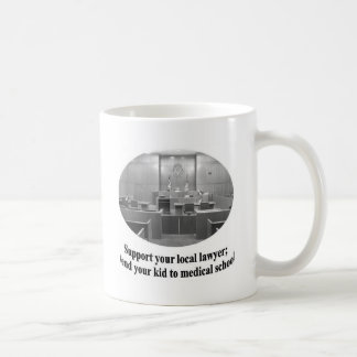 Courtroom Scene with Attorney quote Basic White Mug