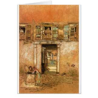 Courtyard and Canal by James McNeill Whistler Card