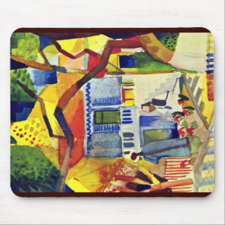 Courtyard Of The Villa In St Germain Mouse Pad
