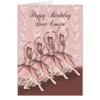 Cousin, a ballerina birthday card