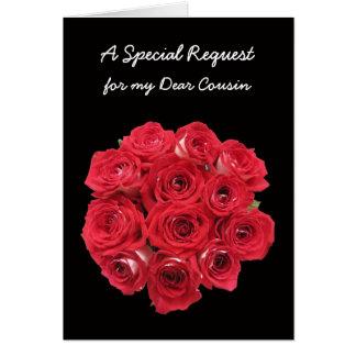 Cousin Bridesmaid Invitations Card - Bouquet