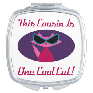 Cousin Cool Cat Travel Mirror