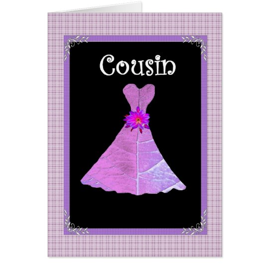 COUSIN  Invite - Pink Gown Card