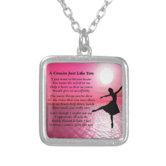 Cousin Poem - Ballerina Silver Plated Necklace