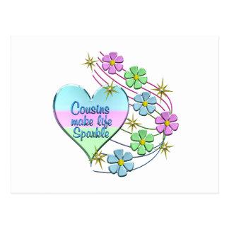 Cousins Make Life Sparkle Postcard