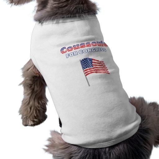 Coussoule for Congress Patriotic American Flag Pet Shirt
