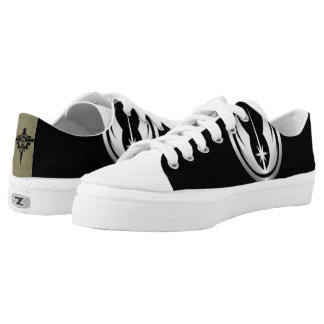 Coustom war zip low top shoes printed shoes