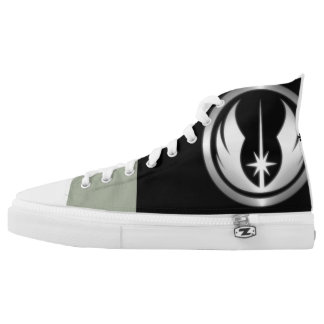 Coustom zip high top shoes printed shoes