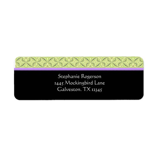 Couture Border Return Address Labels