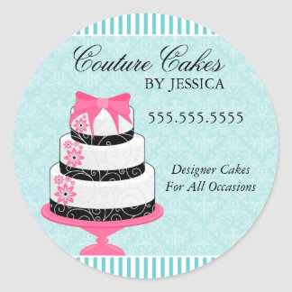 Couture Cakes Aqua Bakery Stickers