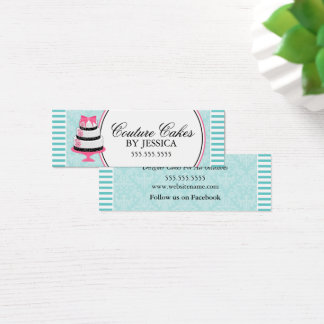 Couture Cakes Bakery Aqua Hang Tags