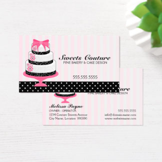 Couture Cakes Bakery Custom Business Card