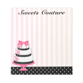 Couture Cakes Bakery Notepad