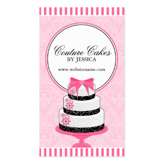 Couture Cakes Bakery Pink Business Cards