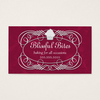 Couture Crystal Cupcake Bakery Business Cards