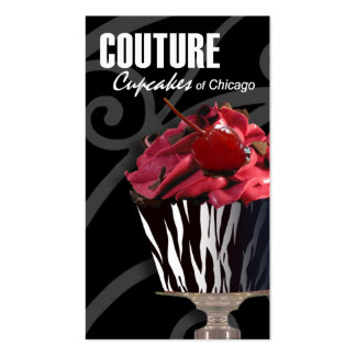 """""""Couture Cupcakes!"""" - Fancy Desserts, Pastries Business Card Template"""