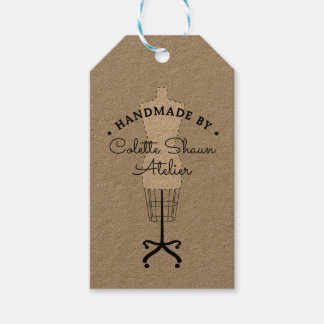 Couture Dressmaker Fashion Design Hangtag Gift Tags