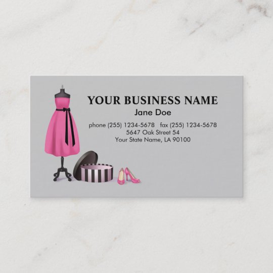 Couture fashion business card zazzle couture fashion business card reheart Gallery