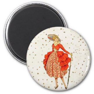 COUTURE. FASHION, VINTAGE FRENCH BELLE EPOQUE MAGNET
