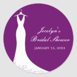 Couture Gown Favour Sticker (Purple)