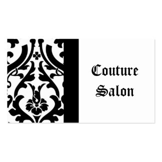 Couture Salon Damask Business Card