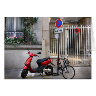 couture vélo rouge – Postcards from Paris9 Greeting Card