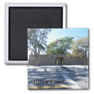 Cove Fort Square Magnet