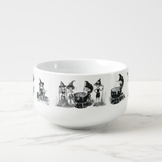 coven of witches circle the soup. soup mug