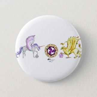 coven symbol spiral essence unicorn griffon 6 cm round badge