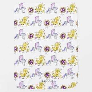 Coven Symbol Spiral Essence Unicorn Griffon Celtic Baby Blanket