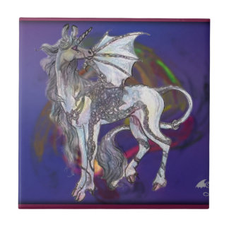 Coven Symbol Spiral Essence Unicorn Griffon Celtic Ceramic Tile