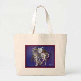 Coven Symbol Spiral Essence Unicorn Griffon Celtic Large Tote Bag