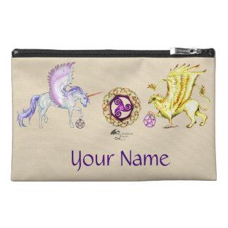Coven Symbol Spiral Essence Unicorn Griffon Celtic Travel Accessory Bag
