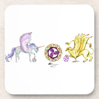 coven symbol spiral essence unicorn griffon coaster