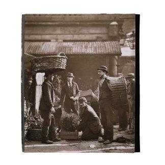 Covent Garden Labourers (woodburytype) iPad Folio Cases