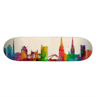 Coventry England Skyline Custom Skate Board