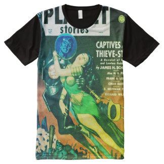 Cover Art Planet Stories 1951 All-Over Print T-Shirt