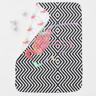 Cover baby Rafter/Pink flamingos Baby Blanket