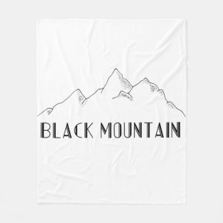 "Cover ""Black Mountain "" Fleece Blanket"