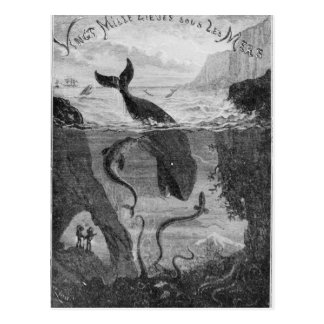 Cover Illustration 20 000 Leagues Under the Sea Postcard