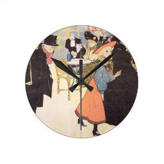 Cover illustration for 'La Vie en Rose', 1903 (col Wall Clocks