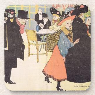 Cover illustration for 'La Vie en Rose', 1903 (col Coasters