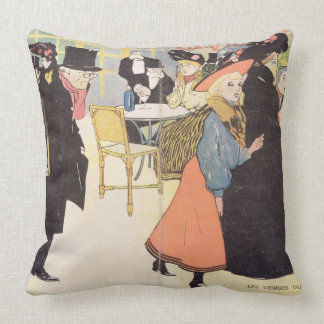 Cover illustration for 'La Vie en Rose', 1903 (col Throw Pillows